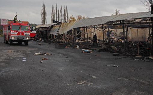 Tschechien asia grenze bayern markt Cheb: Großbrand