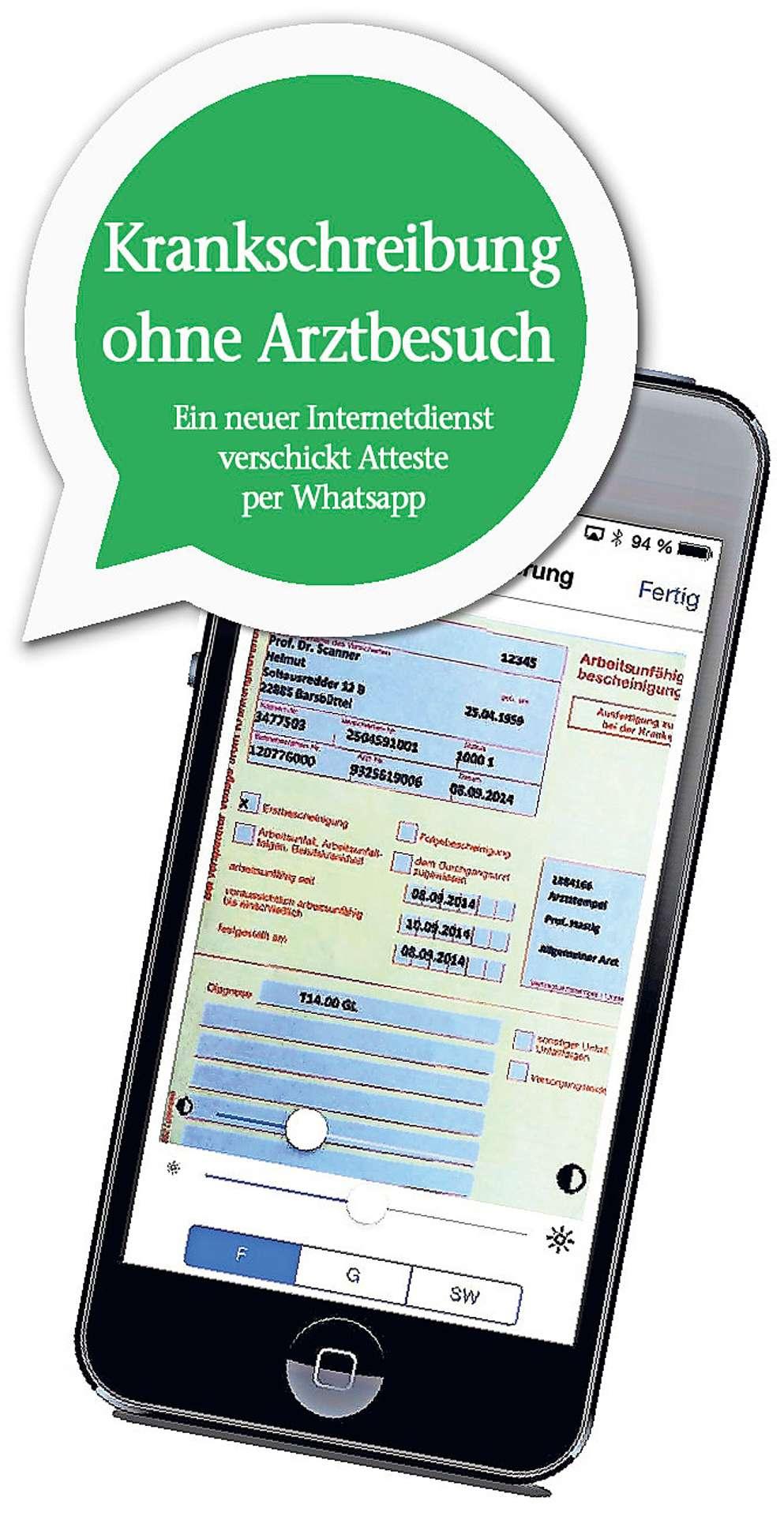 Wirtschaft Krankschreibung Ohne Arztbesuch Per Whatsapp Oberfranken Frankenpost